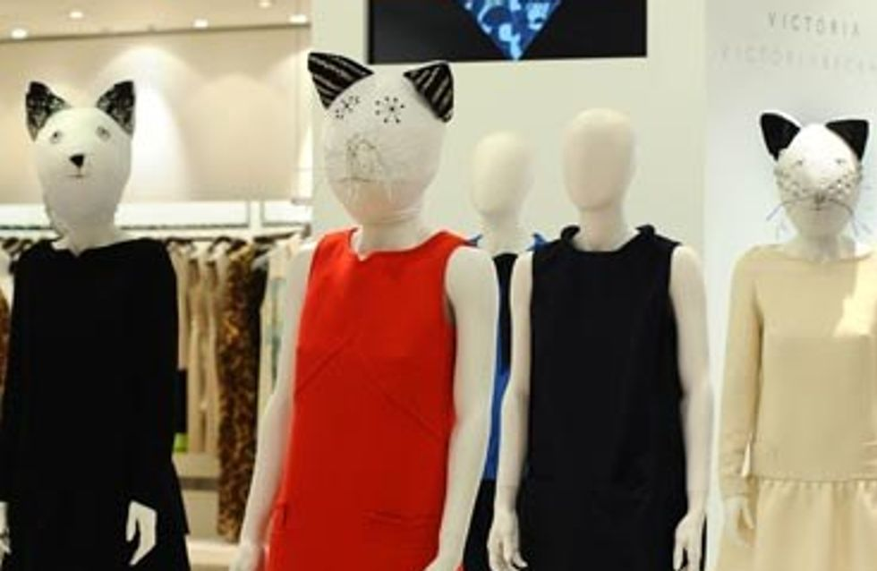Victoria Beckham's new dress line in store