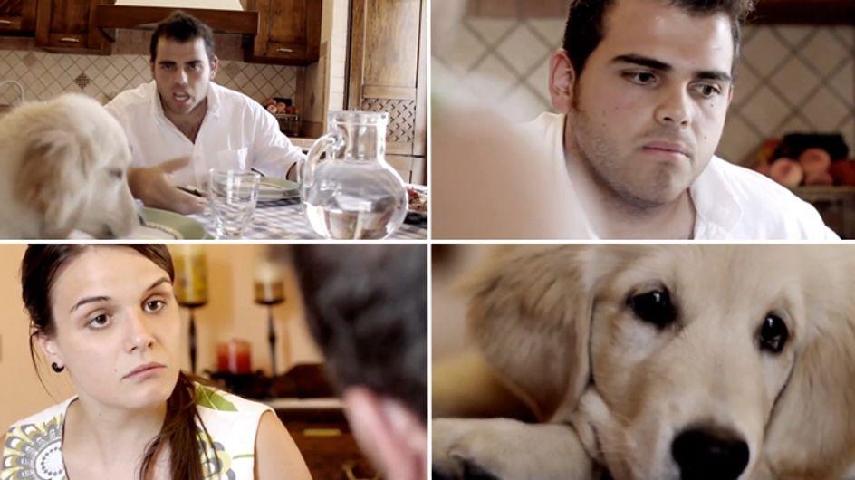 """Video/ """"E il cane? Lasciamolo sotto casa"""". Il video contro l'abbandono dei cani"""