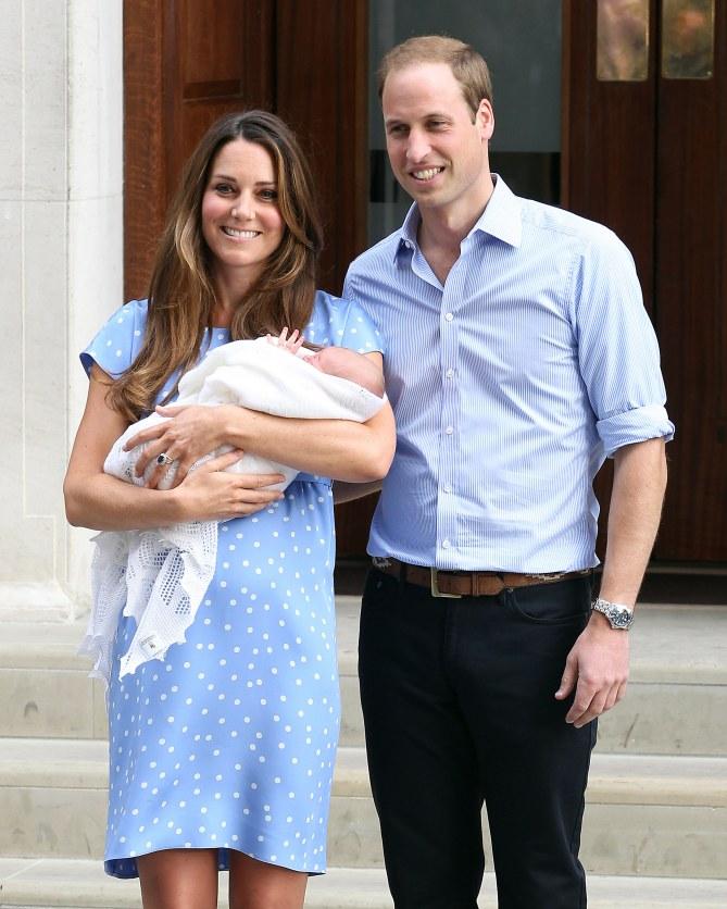 Kate Middleton à la sortie de la maternité