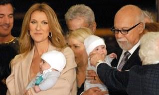 Céline Dion, René Angelil et leurs enfants