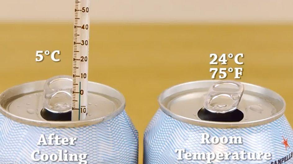 Eisgekühlte Limo in nur 2 Minuten? Dieser Trick versüßt uns den Sommer!