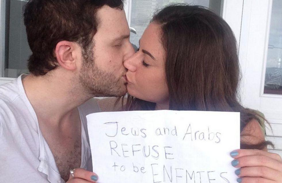 Dieses Paar sagt dem Krieg den Kampf an! Juden und Araber wollen keine Feinde sein!