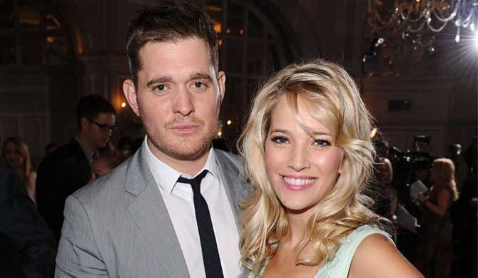 Michael Bublé's angry wife threw his clothes in the pool