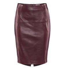 Fashion buy: Oxblood leather skirt
