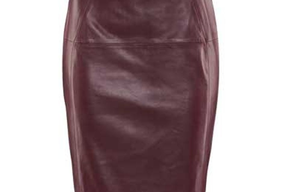 Fashion buy: Oxblood leather skirt