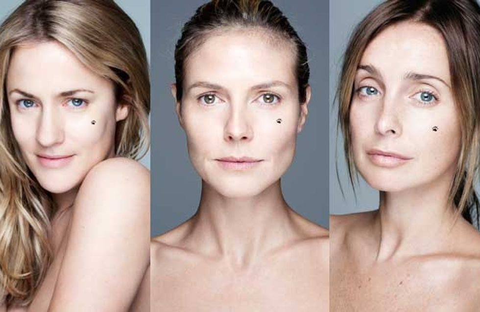 """Celebrities without makeup: Caroline Flack and other stars go """"BearFaced"""" for charity"""