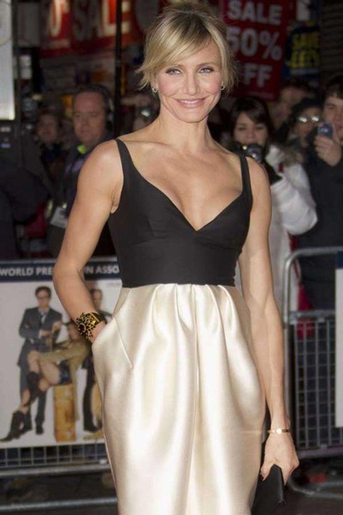 Cameron Diaz shows off rumoured boob job at film premiere