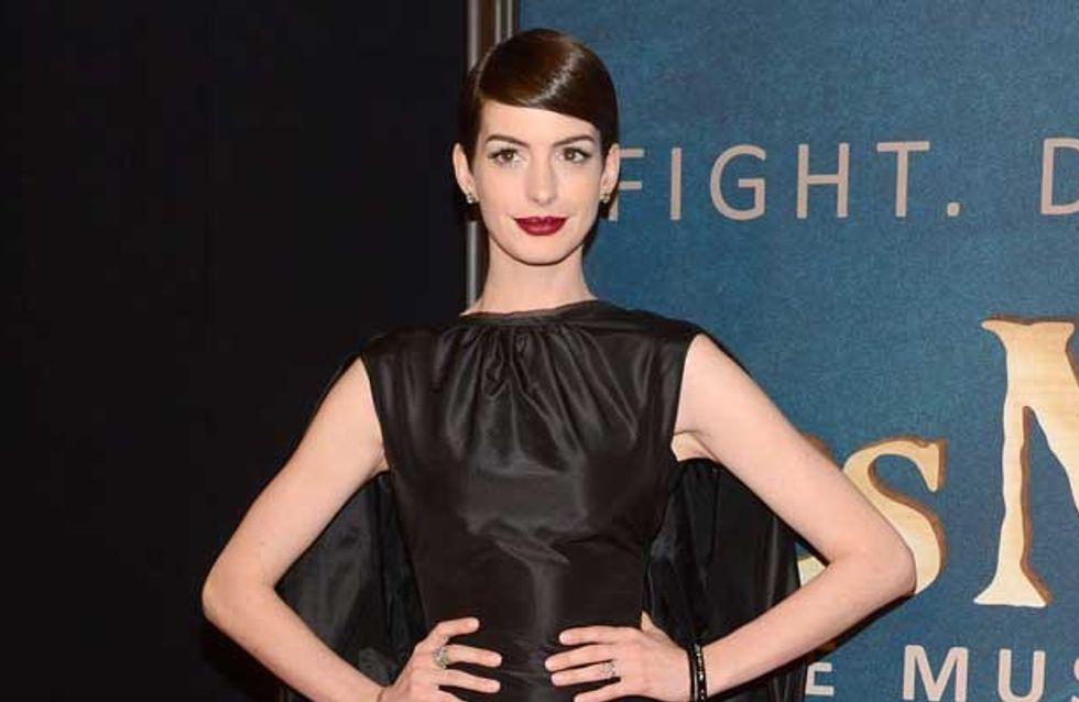 "Anne Hathaway ""devastated"" after X-rated flash at New York Les Miserables premiere"