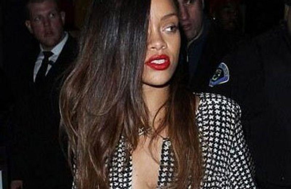 Rihanna debuts new ombre hair do