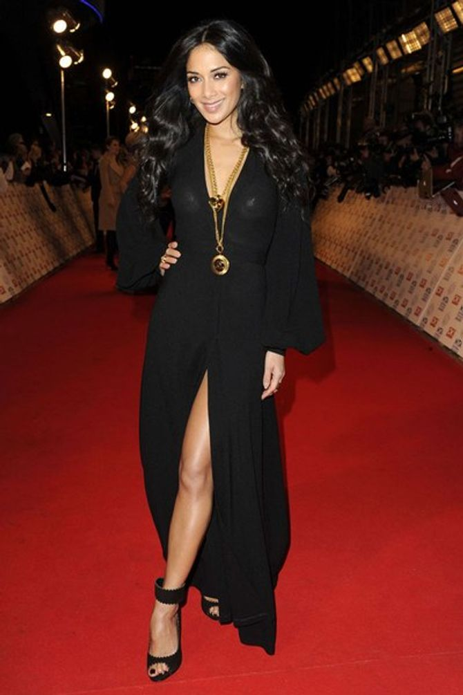 Nicole Scherzinger's X-rated nipple flash at the NTAs
