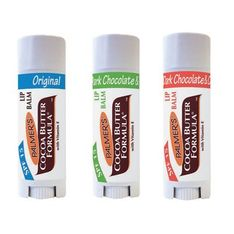 Palmer's lip balm: Cocoa butter and chocolate lip balms