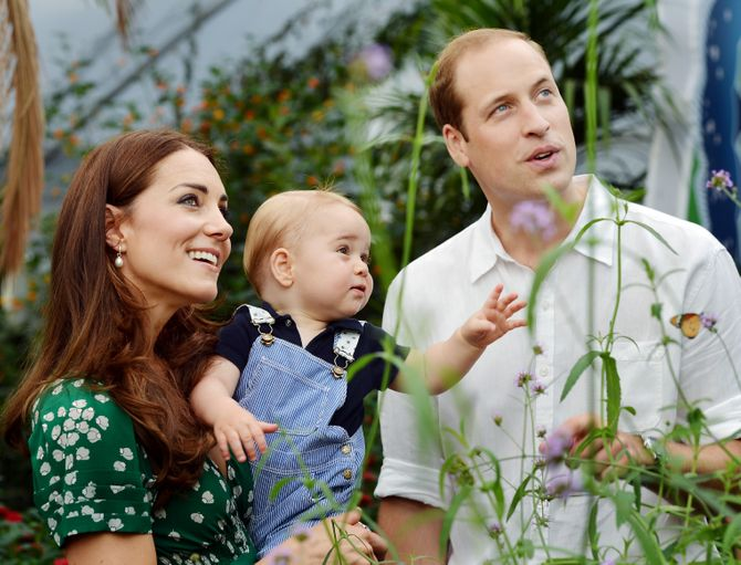 Il piccolo George insieme a William e Kate
