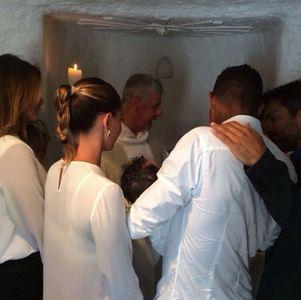 Melissa Satta e Kevin Prince Boateng al battesimo di Maddox