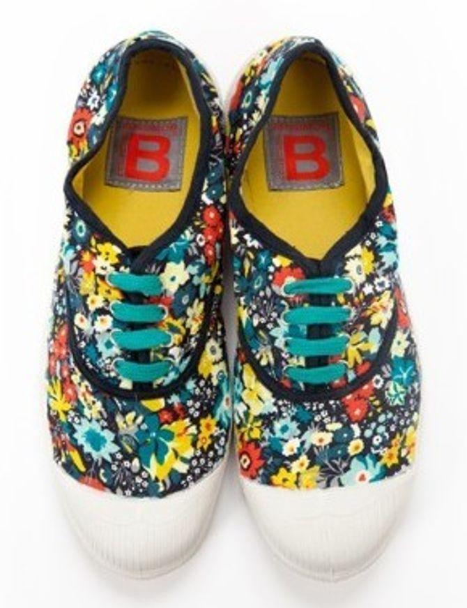 Tijdloze sneakers Bensimon gebloemde versie