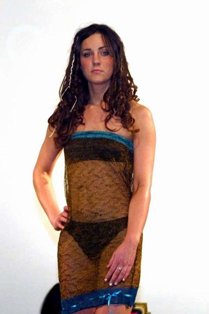 Kate Middleton jokes about wearing infamous see-through fashion show dress