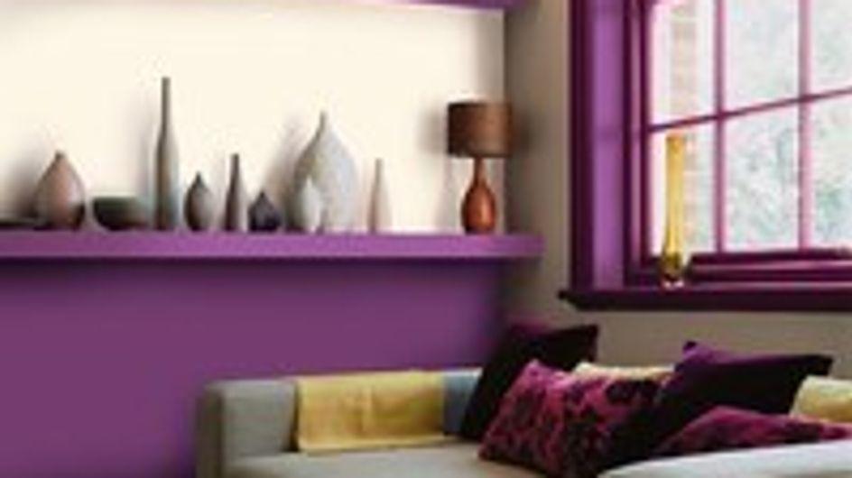 Le violet en déco