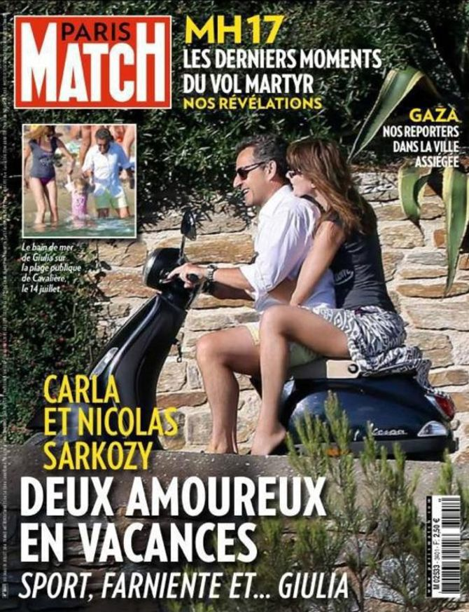 Une de Paris Match - Nicolas Sarkozy et Carla Bruni