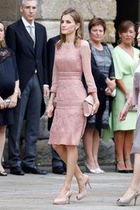 La reina Letizia en su visita al Apóstol Santiago