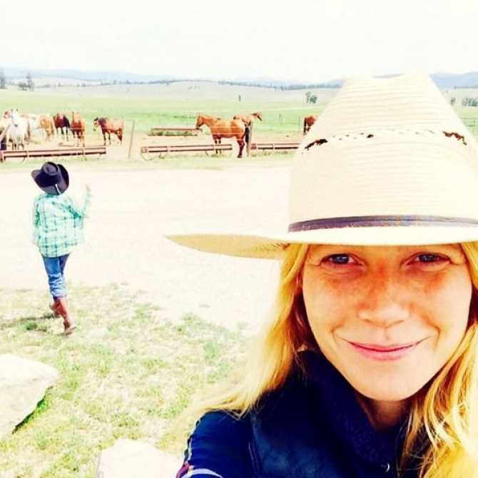 Gwnyeth Paltrow, cowgirl sans maquillage