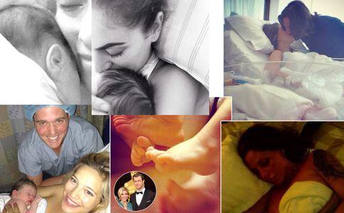 I childbirth selfie delle star