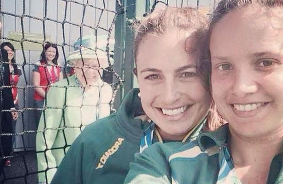 La Reine Elisabeth s'incruste sur un selfie (photo)