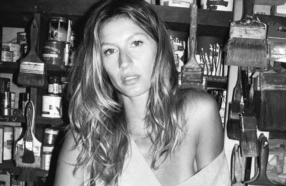 Gisele Bündchen : Au naturel pour la nouvelle campagne Sonia Rykiel (Photos)