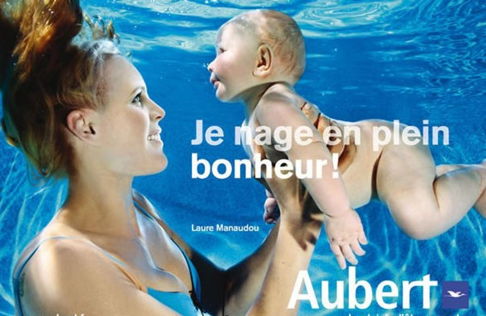 Laure Manaudou pose pour la marque de puériculture Aubert !
