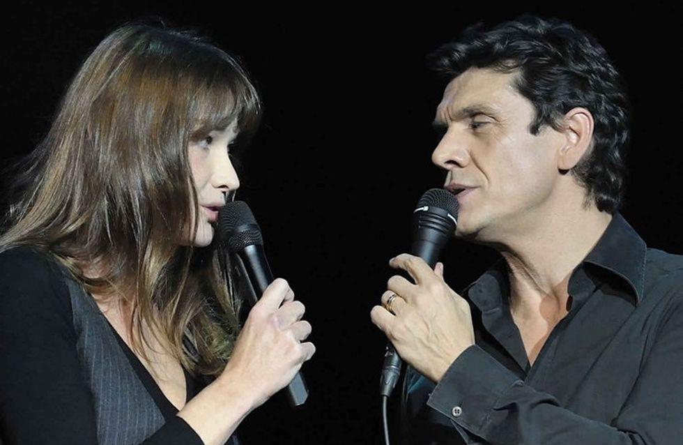 Carla Bruni et Marc Lavoine, duo surprise