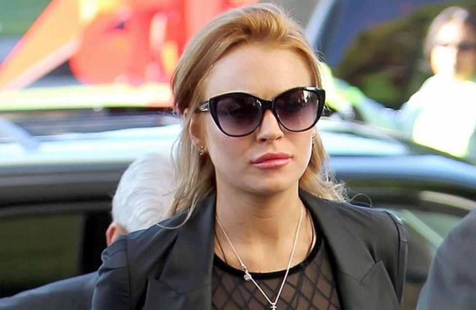Lindsay Lohan, en famille pour Noël