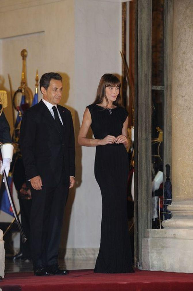 Photos : Quand Carla Bruni Sarkozy reçoit le Président chinois