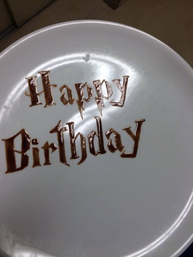 Un cumpleaños dedicado a un fan de Harry Potter