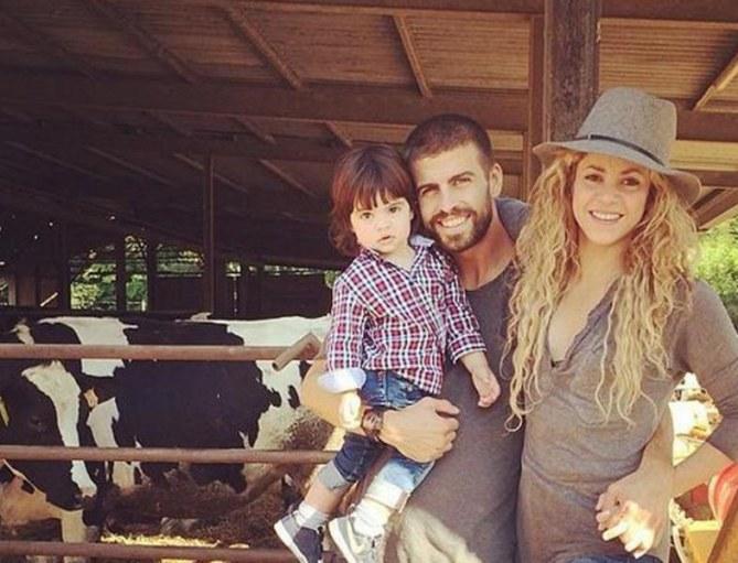 Shakira und ihre kleine Familie