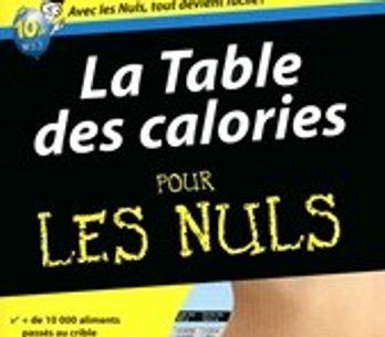 La table des calories pour les nuls