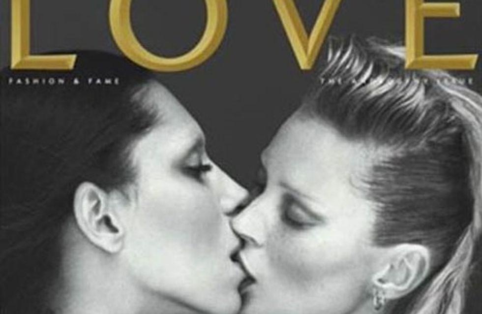 Kate Moss embrasse un transsexuel en une de LOVE !