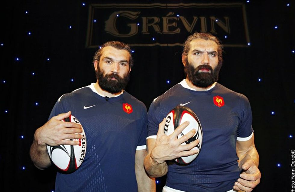 Photo : Sébastien Chabal rencontre sa statue de cire