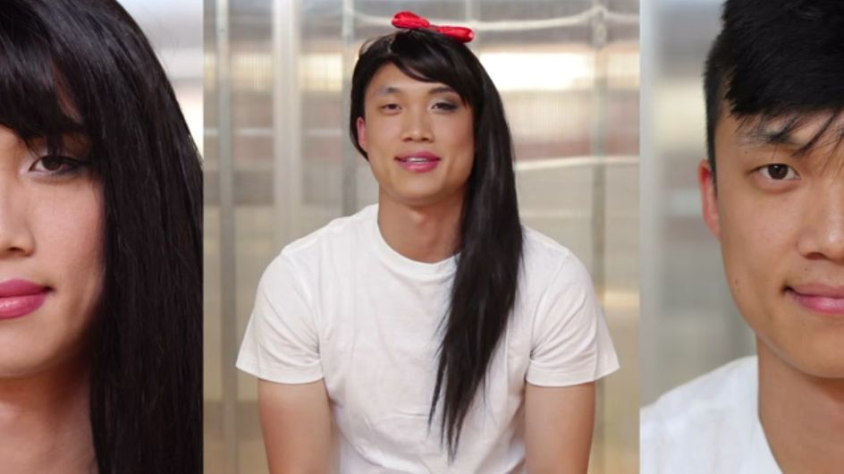 ¿Cómo crees que reaccionaría un hombre si lo maquillaran como una mujer?