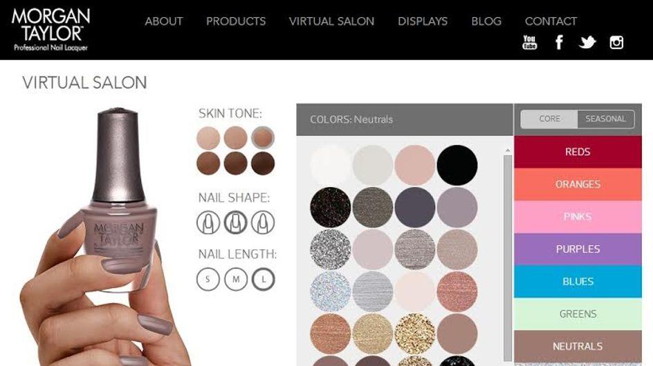 Cambiare smalto diventa un gioco con il Virtual Salon di Morgan Taylor