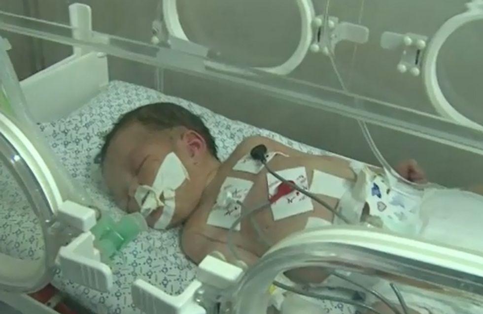 Gaza : Ce bébé miraculé survit à un bombardement et au décès de sa maman