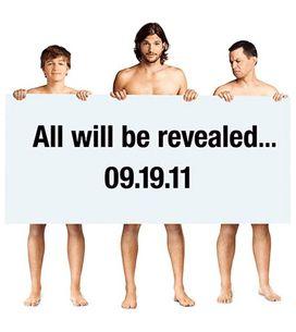 Ashton Kutcher nu pour la promo de 'Mon Oncle Charlie'