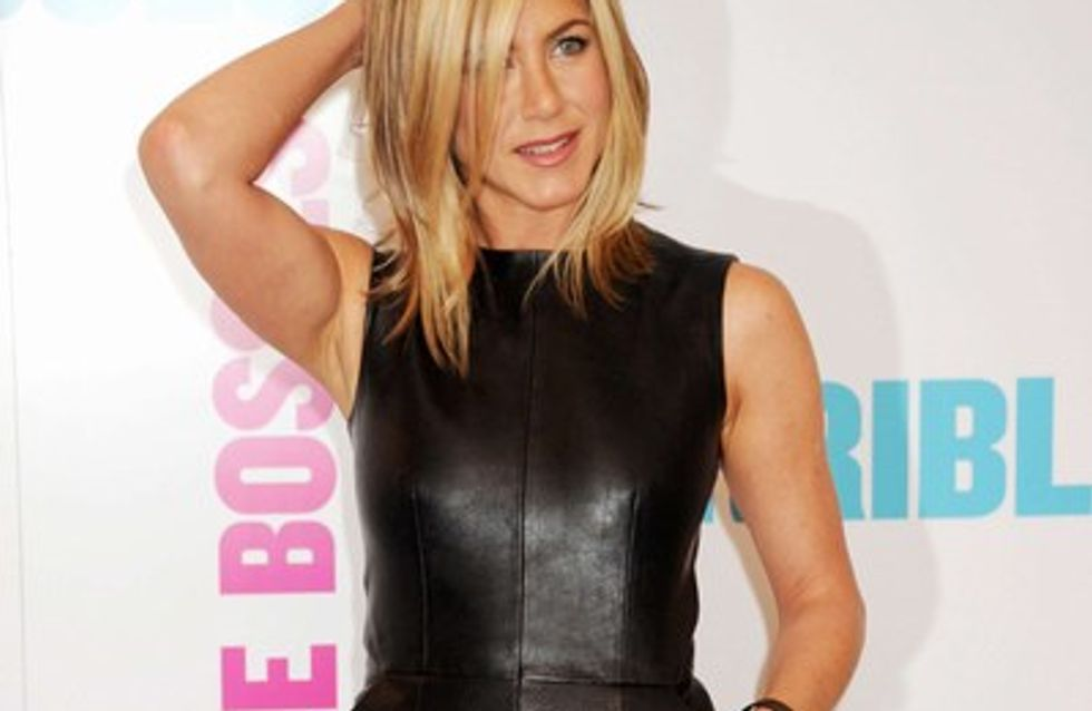 Jennifer Aniston sexy en cuir !