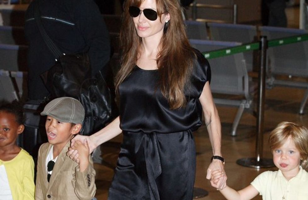 Quand Angelina Jolie s'éclate à Londres avec sa tribu !