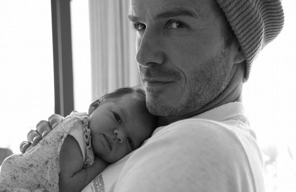 Photo David Beckham : il ne quitte plus sa petite Harper