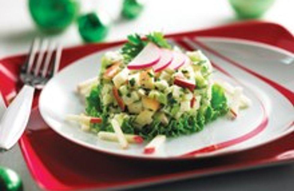 Salade croquante quatre saisons au sirop d'érable