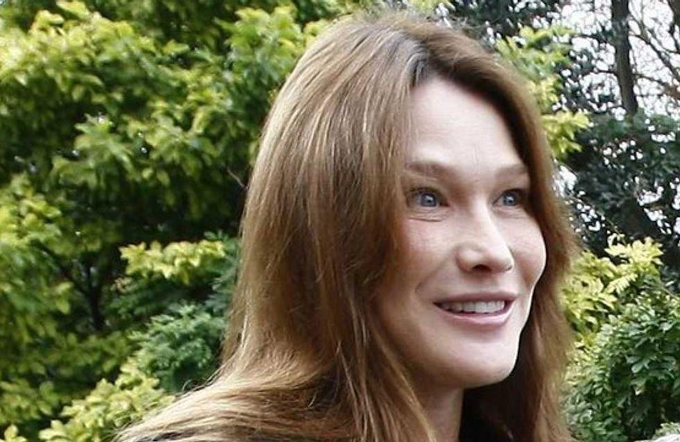 Carla Bruni-Sarkozy : elle a quitté la clinique avec Giulia