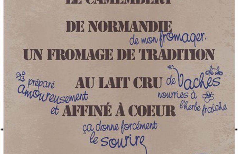 Le Camembert de Normandie à l'affiche !