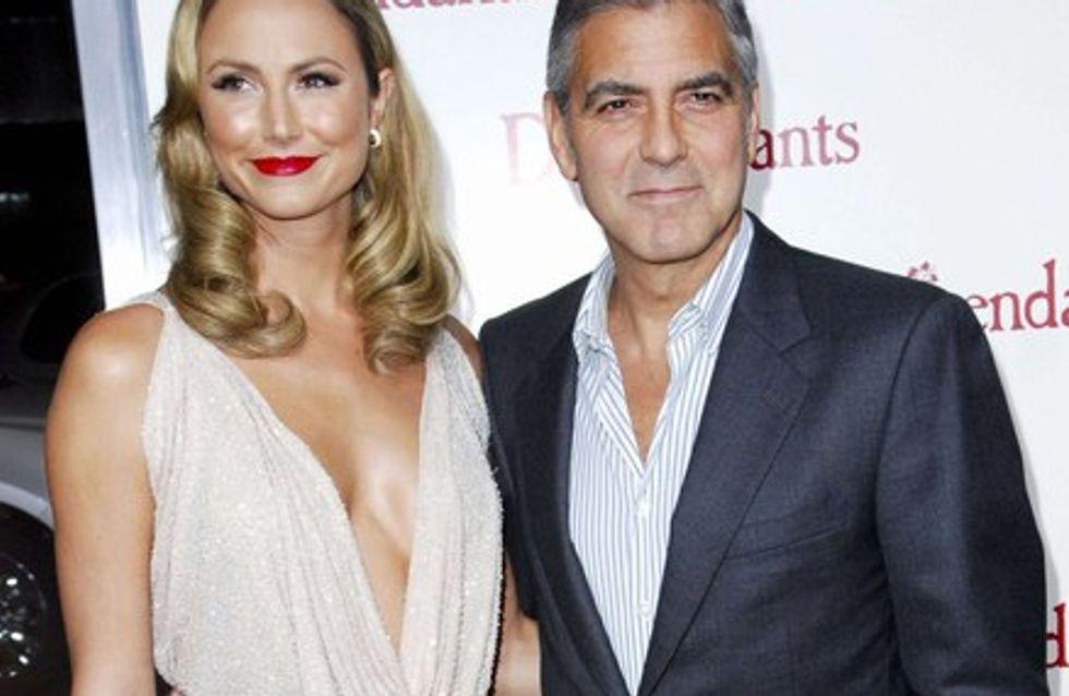 """George Clooney : """"Stacy Keibler pourrait me mettre la pâtée"""""""