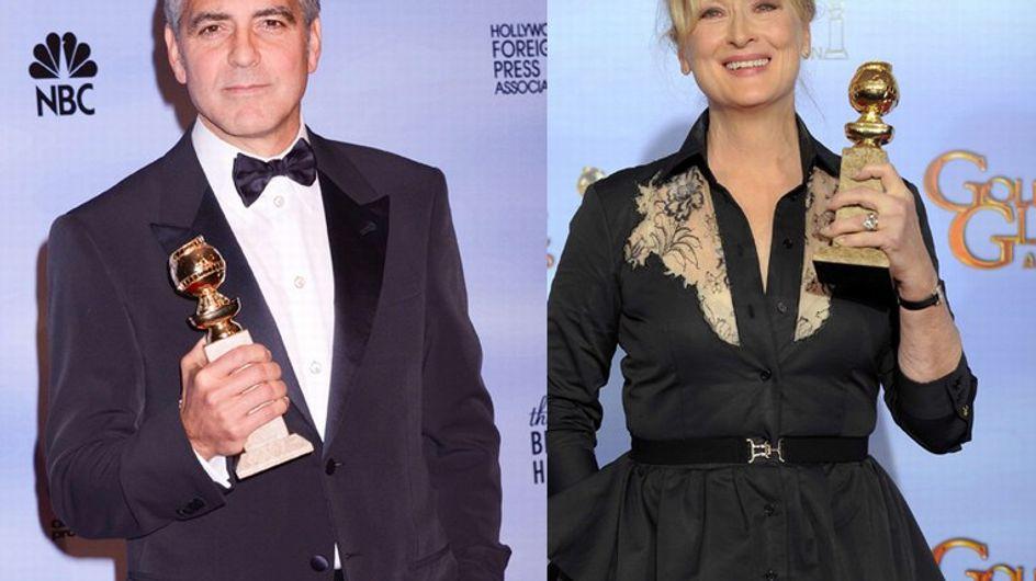 Golden Globes 2012 : Meryl Streep et George Clooney primés