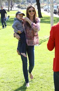 Miranda Kerr und Söhnchen Flynn