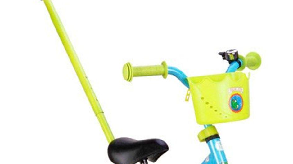 Emeline a testé le vélo pour enfant et le porte-bébé Carrefour