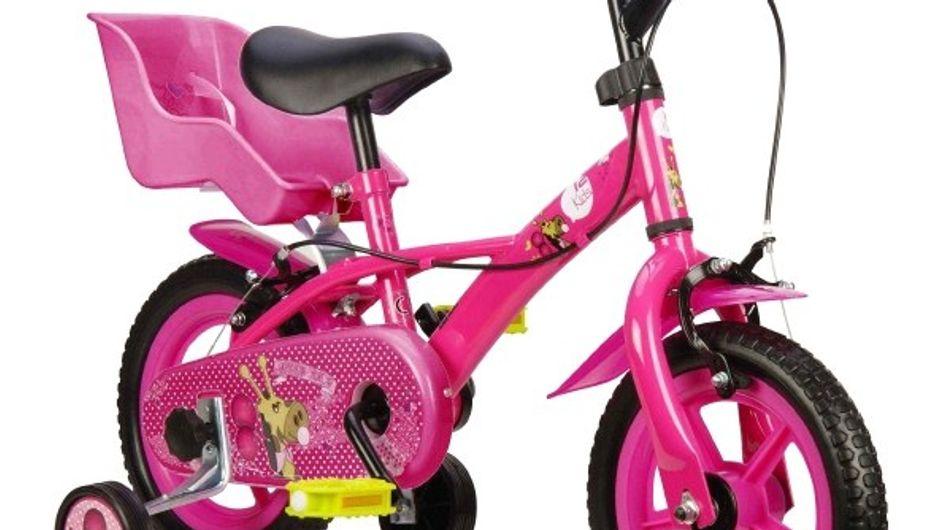 """Emelyne a testé le vélo pour enfant 12"""" Carrefour"""